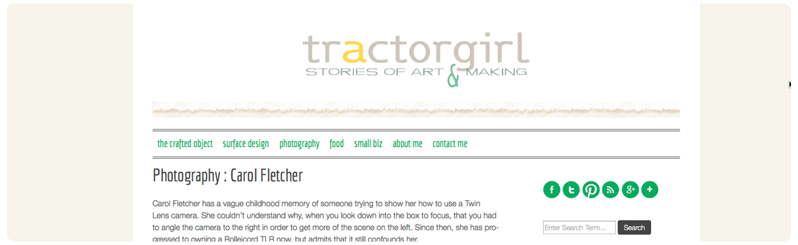 Tractor Girl Blog screenshot