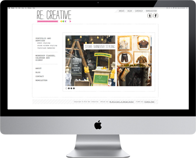 Screen image of recreative works web site