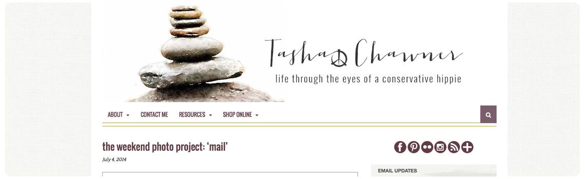 Tasha Chawner blog screen shot