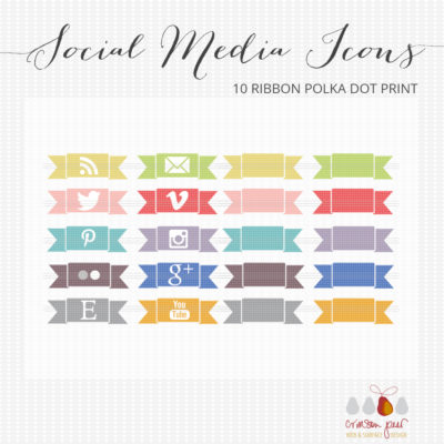 10 Ribbon Social Media Icons