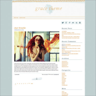 Grace theme screenshot