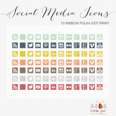 84 flat social media icons for sale