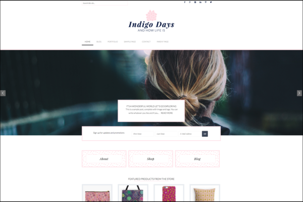 Indigo Days theme screenshot
