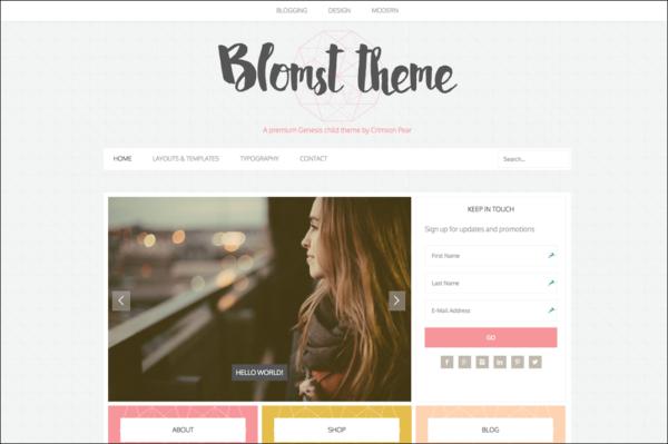 Blomst theme screenshot