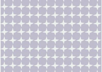 Cream star pattern