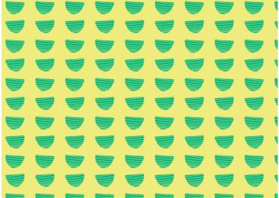 Green bowl pattern