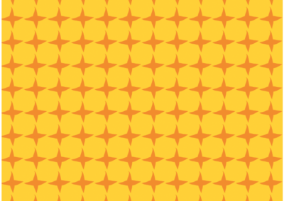 Orange star pattern